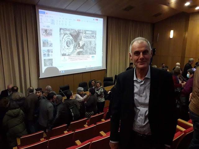 Ο Γ. Γκιόλας στην ανακοίνωση Λαμπρινουδακη για τα μοναδικά ευρήματα της ανασκαφής στο χώρο του Ασκληπιείου Επιδαύρου