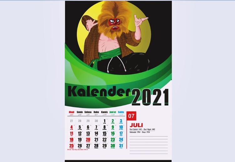 Template Kalender Duduk 2021 Desain Kalender 2021