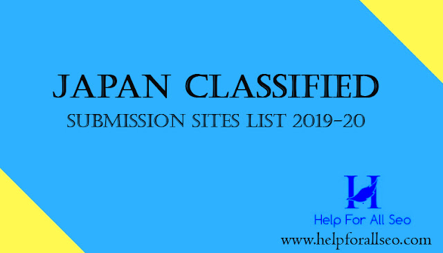 Japan Classified Submission websites List 2019-20