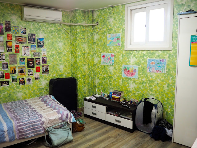 Interior of studio apartment in Busan, South Korea