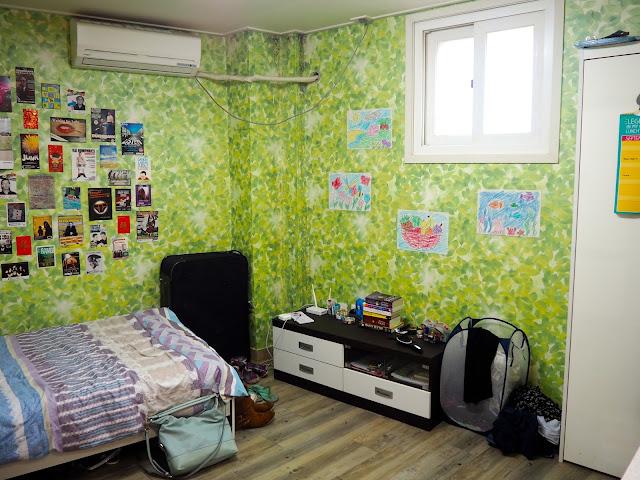Interior of studio apartment in Busan, South Korea