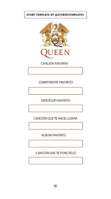 Reto de canciones de Queen (Plantilla)