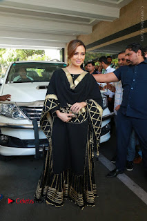 Bollywood Actress Sana Khan Launches Aakrithi Exibition  0212.JPG