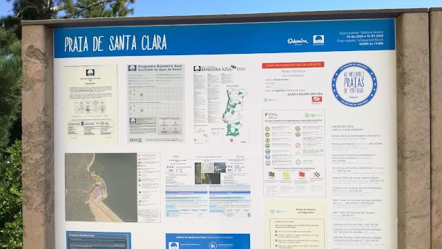 Praia de Santa Clara - Painel de Informações