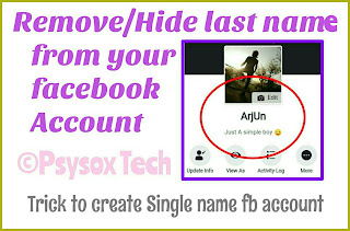 now create account on facebook without any sir name psysoxtech