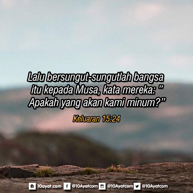 Keluaran 15:24