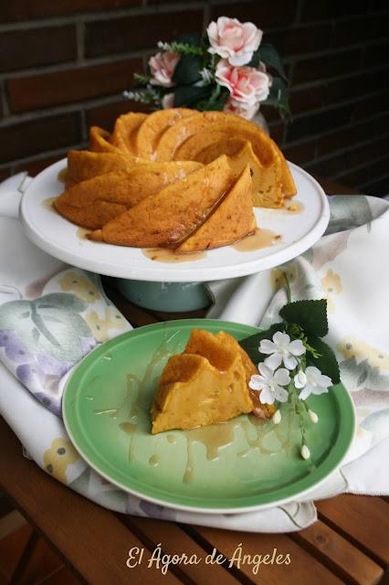 Bizco-tarta de calabaza, queso y leche condensada  El Ágora de Ángeles