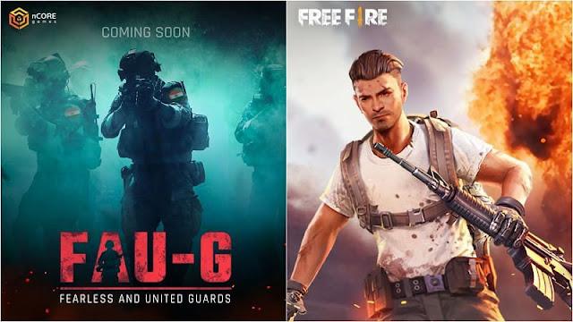 ما هي الاختلافات الاساسية بين Free Fire و fau-g