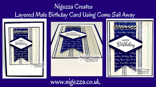 Nigezza Creates with Stampin' Up! Come Sail Away Male Birthday Card