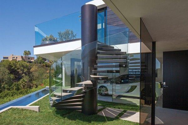 Glass railing staircase designs