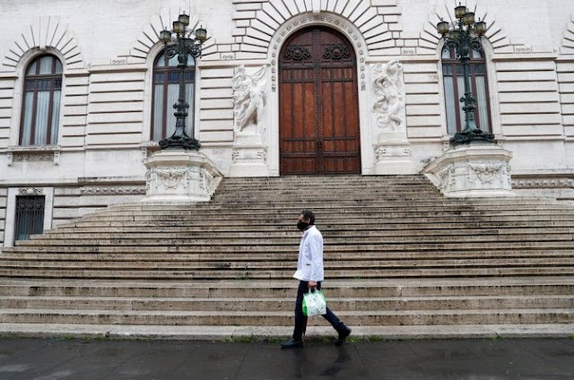 The Italian government easing travel restrictions imposed due to the coronavirus pandemic