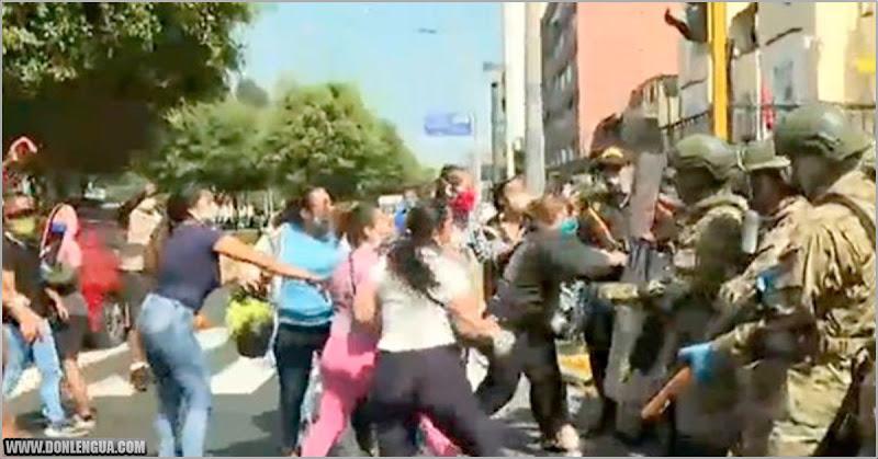 Migrantes venezolanos se enfrentaron con los cuerpos de seguridad de Perú