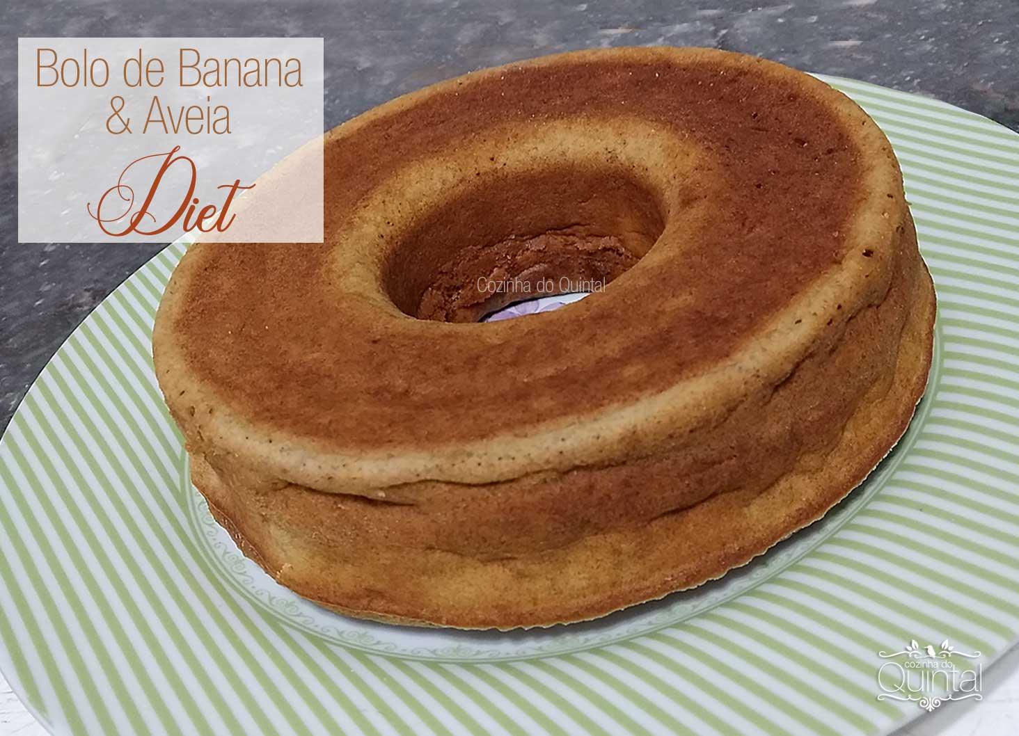 Cozinha do Quintal Bolo de Banana e Aveia Diet