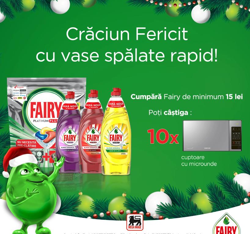 Concurs Fairy Mega Image - Castiga 10 cuptoare cu microunde - concursuri - online