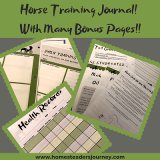Training horses with the ultimate horses training journal #horsetraining #traininghorses #homesteader