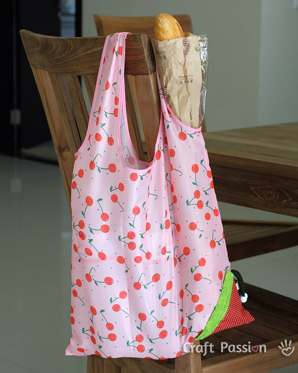 Strawberry Reusable Grocery Bag