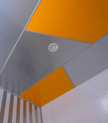 contoh warna plafon gypsum minimalis terbaru