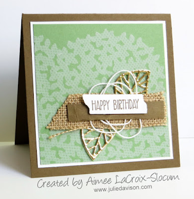 Stampin' Up! Thoughtful Branches birthday card created by Aimee LaCroix-Slocum #stampinup www.juliedavison.com -- Exclusive August 2016 Bundle