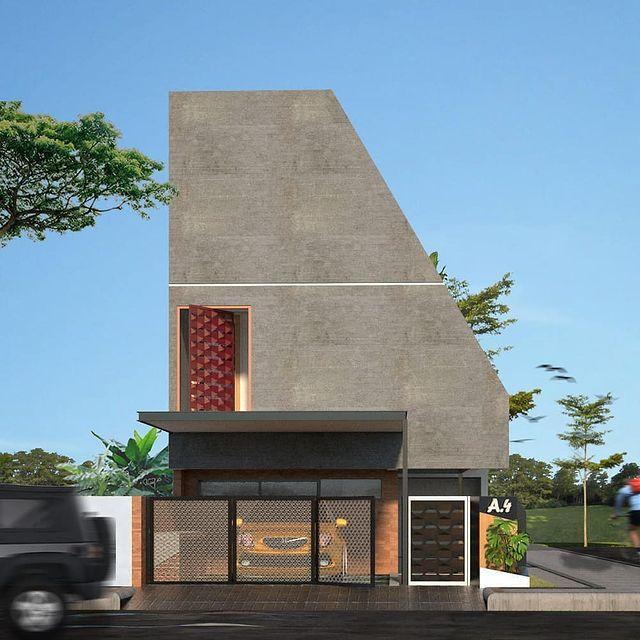 desain rumah atap miring