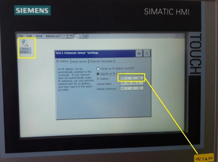 SOC1 Ethernet Driver Settings
