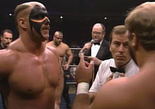 NWA Starrcade 1987 - The Road Warriors faced Arn Anderson and Tully Blanchard for the tag team titles