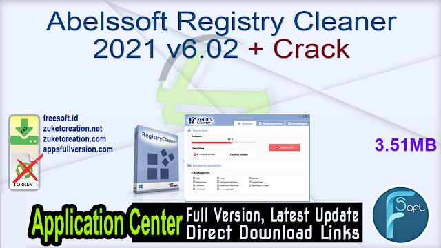 Abelssoft Registry Cleaner 2021 v6.02 + Crack