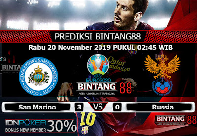 Prediksi Skor  San Marino vs Russia 20 NOVEMBER 2019