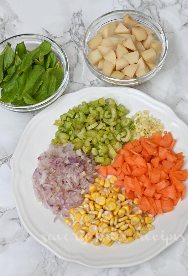 ingredients to make white bean soup
