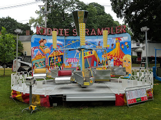 amusement ride set up on the Town Common