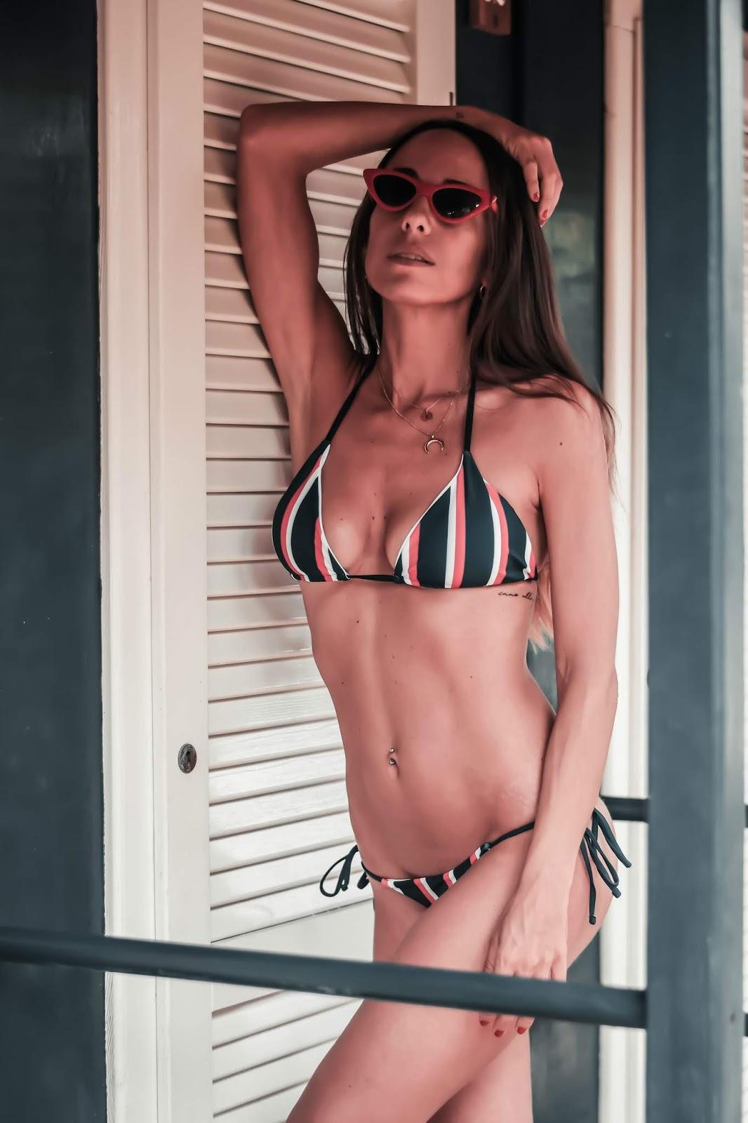 bikini a righe