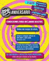 CONDICIIONES Concierto Aniversario SPR SHOP Bogotá