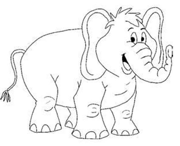 elephant coloring pages for preschool - photo#13