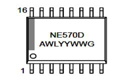 NE570D Compandor Lead Marking Diagram