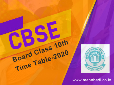 CBSE 10th Board Exam 2020