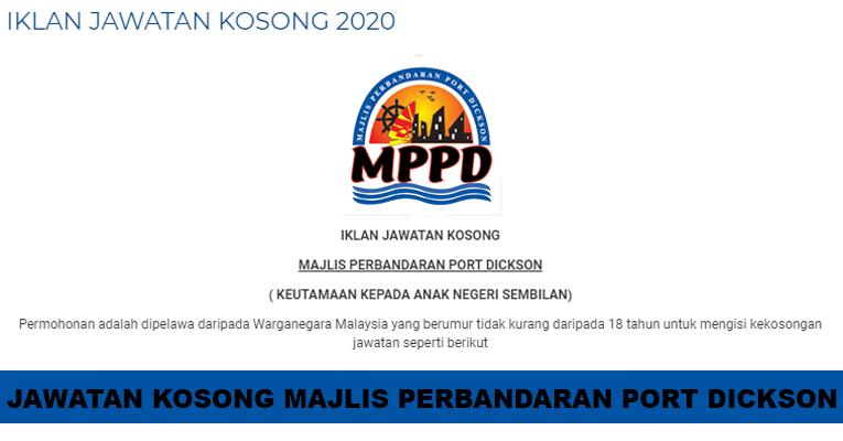Kekosongan Terkini di Majlis Perbandaran Port Dickson (MPPD)
