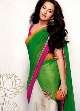 Sonakshi Sinha Cute in Saree