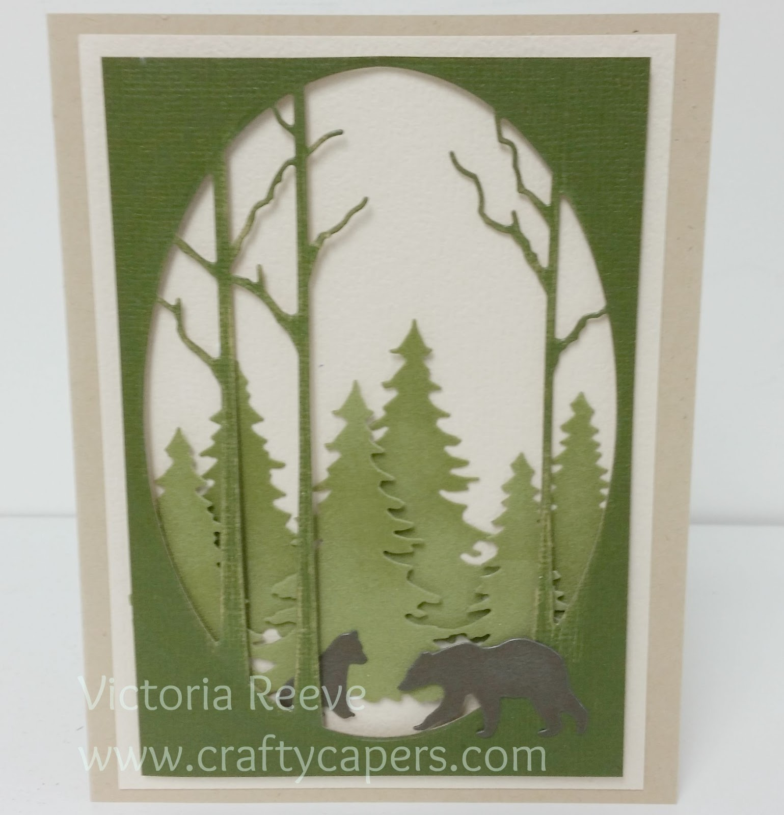 Crafty Capers Rubber Stamps New Memory Box Card Sample