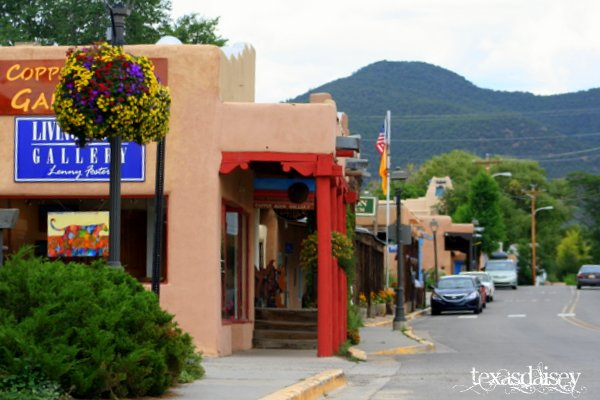 View of Street in Taos New Mexico