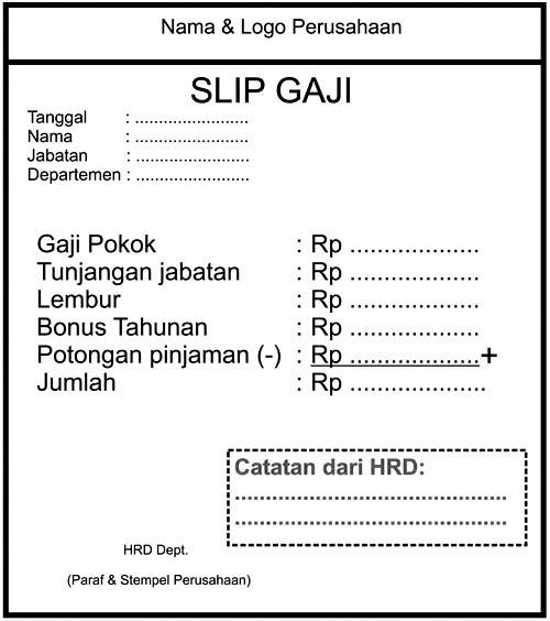 Format slip gaji