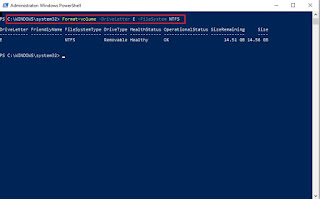How to Format USB Using PowerShell