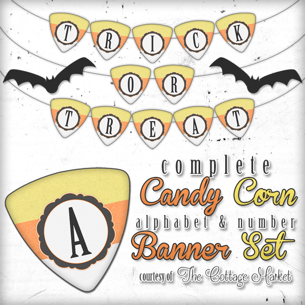 graphic relating to Printable Halloween Banners titled No cost Printable Halloween Sweet Corn Alphabet and Quantity