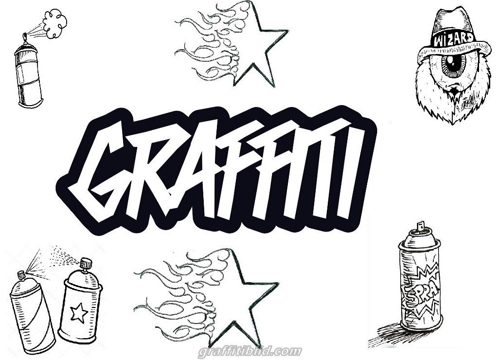 11 Coole Graffiti Ausmalbilder zum Ausdrucken Kostenlos ...