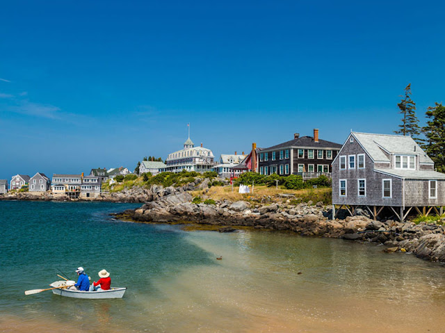 The small island of Monhegan, Lincoln County, Maine