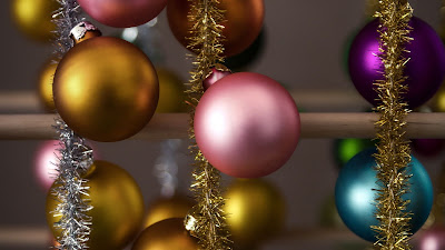 Christmas balls, sequins, decoration, colorful