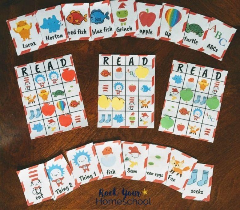 printable games for kids - Dr Seuss bingo game