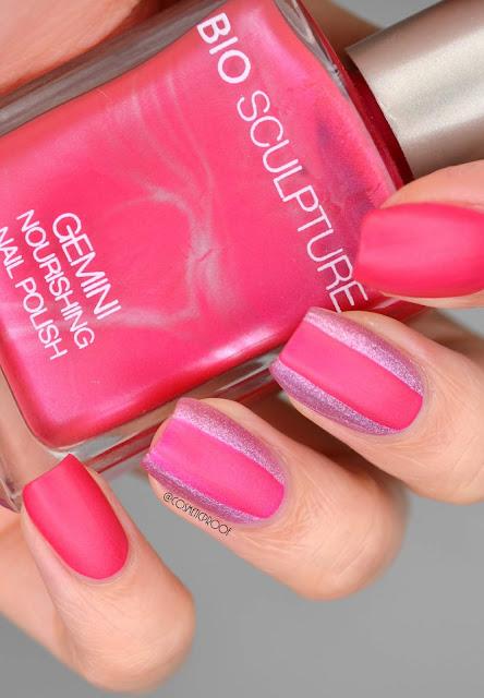 Matte Pink Nail Art