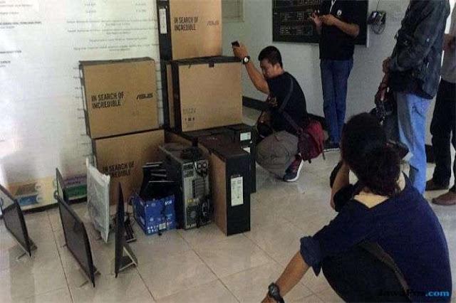 Tunggak Pembayaran Rp 368 Juta, Puluhan Komputer KPU Makassar Ditarik