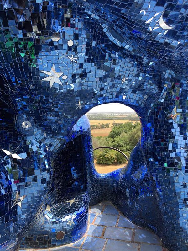 L'artista Niki de Saint Phalle a Capalbio