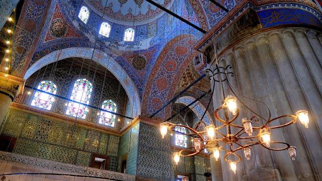 mesquita sultanahmet azul turquia