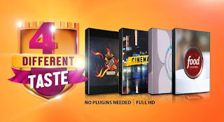VIDEOHIVE FOUR DIFFERENT TASTE LOGO PACK